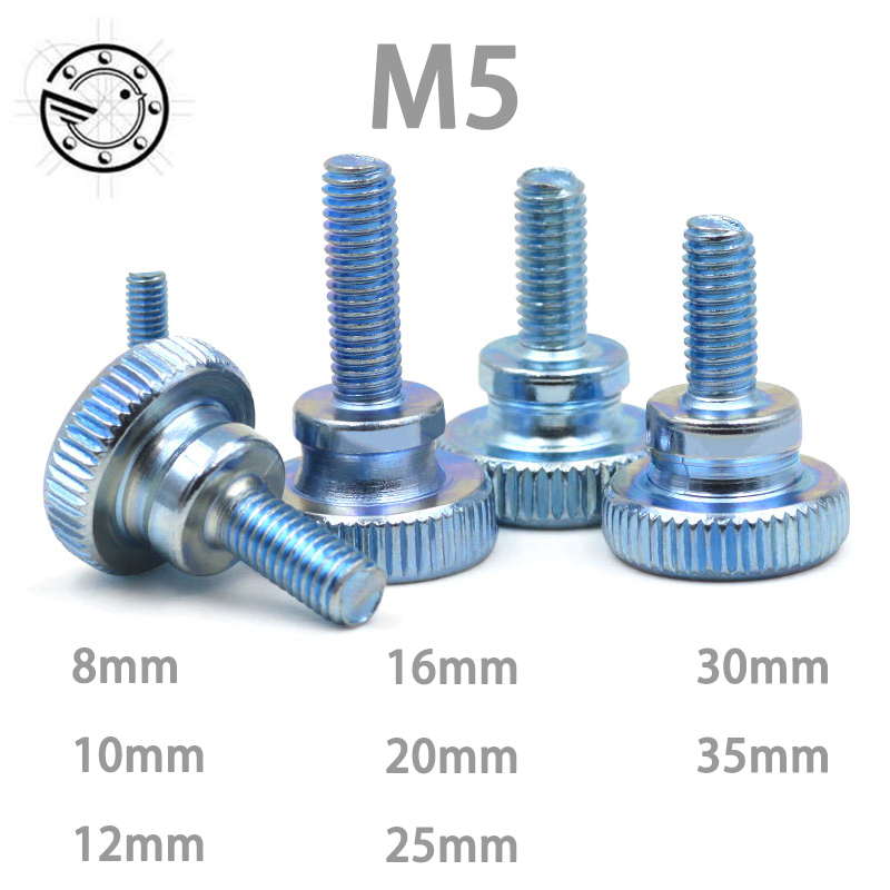 Pcs gb m carbon steel thumb screw with collar round