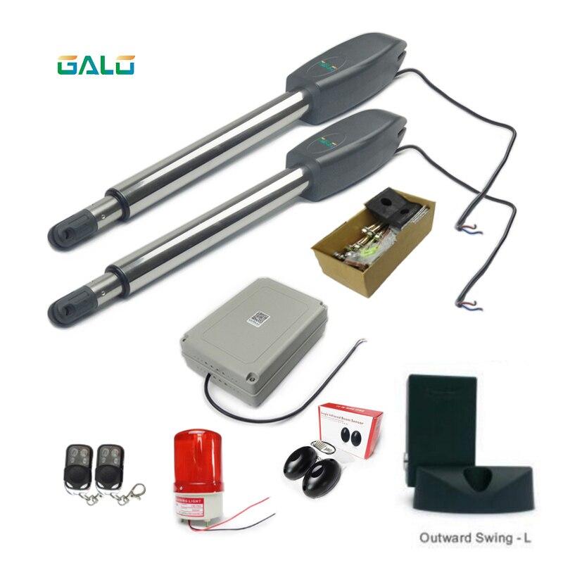 Ouvreur automatique de porte d'oscillation d'opérateur électrique de porte pour le poids de porte jusqu'à 300KGS et 3 mètres chaque feuille résistante