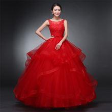 Новое Брендовое красное свадебное платье с аппликацией бальное