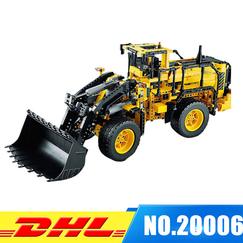 DHL LEPIN 20006 technic series 1636pcs Volvo L350F wheel loader Model Building blocks Bricks Compatible 42030 Childre DIY Gift lepin 20006 technic series volvo l350f wheel loader model building kit blocks bricks compatible with toy 42030 educational gifts