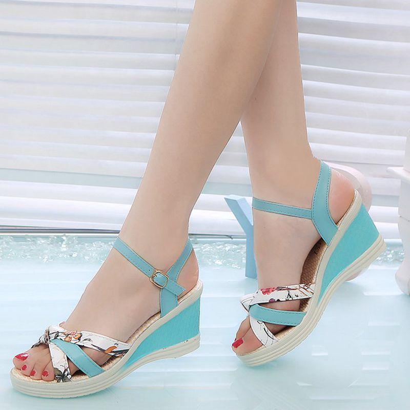 HTB1r9MEbfvsK1RjSspdq6AZepXap New Summer Fashion Women Sandals Ladies High Heel Platform Open Toes Women Sandals Shoes Women's Platfroms Casual Wedges Sandals