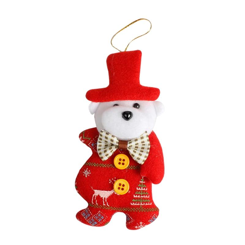 Decorate Christmas Tree Like Snowman: 4pcs/lot Christmas Tree Decorations Santa Claus Snowman