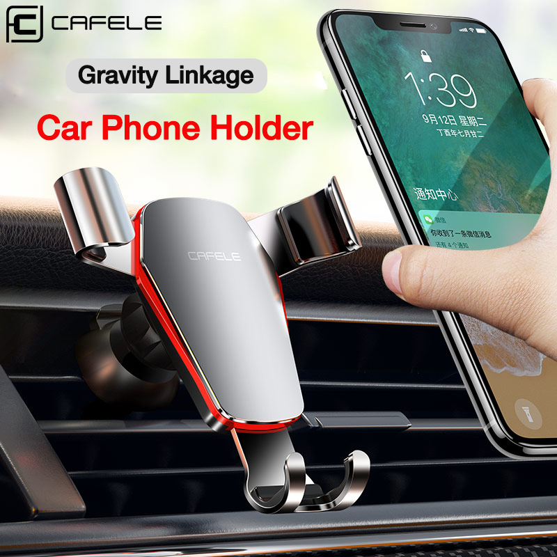 Cafele Gravity Car Phone Holder Air Vent Mount Holder For Phone 360 Rotation Automatic Mobile Phone Stand For Xiaomi 9 IPhone X