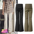 Maternity pants spring and autumn fashion maternity career pants 100% cotton belly pants straight long trousers pants