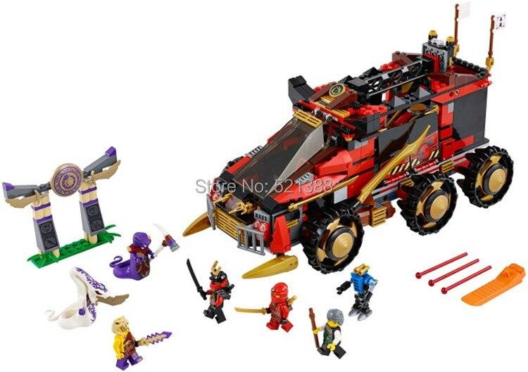 DIY Educational Toys for children CHINA BRAND S702 self-locking bricks Compatible with Lego Ninjago Ninja DB X Build 70750