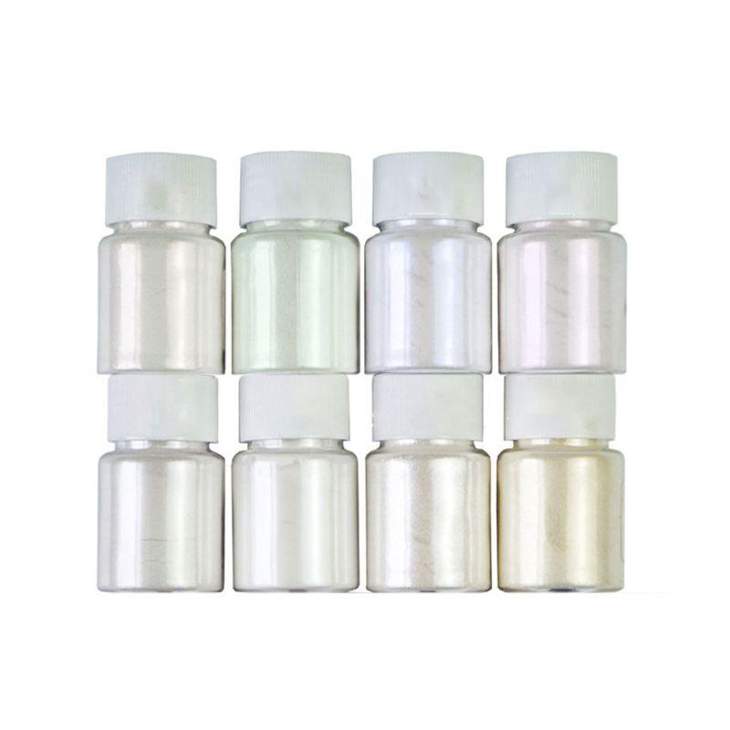 8 Pcs/set Pearlescent Powder Handmade Jewelry Making Filling Material Crystal Mud Pigment DIY Epoxy Filler