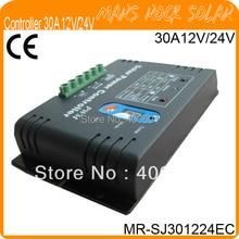 30A 12 В / 24 В экономического шим солнечный регулятор с металлом shell, авто определить напряжение, температура компенсировать, из светодиодов цифровой дисплей