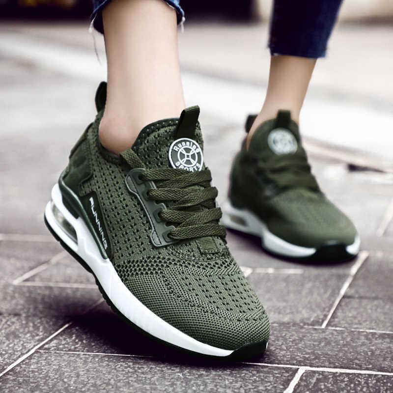 Zapatillas transpirables de verano para Mujer Zapatillas de deporte para Hombre Zapatos deportivos para Mujer zapatos para correr para Mujer 2019 B-239 verdes