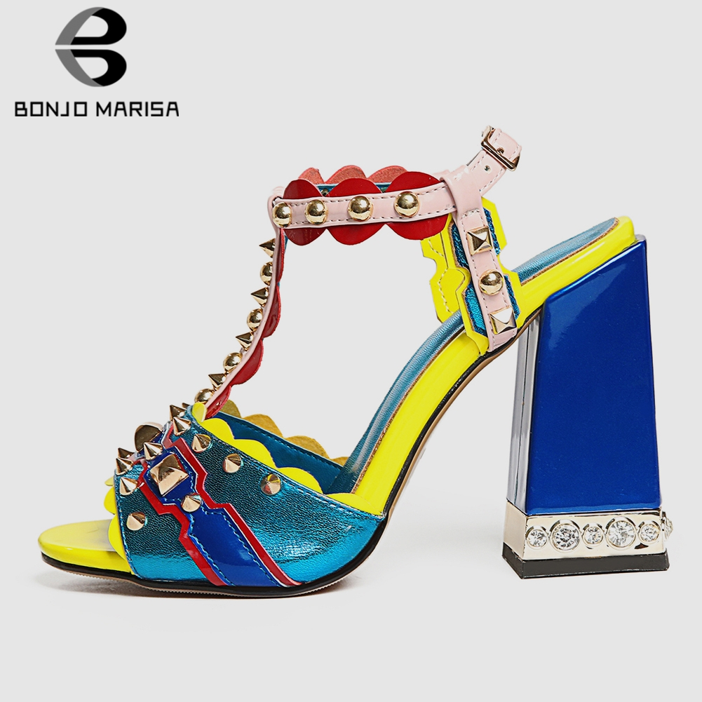 BONJOMARISA New Luxury Brand Genuine Leather Shoes Sandals Women 2019 Summer Big Size 33-43 Women High Heels Shoes Woman PartyBONJOMARISA New Luxury Brand Genuine Leather Shoes Sandals Women 2019 Summer Big Size 33-43 Women High Heels Shoes Woman Party
