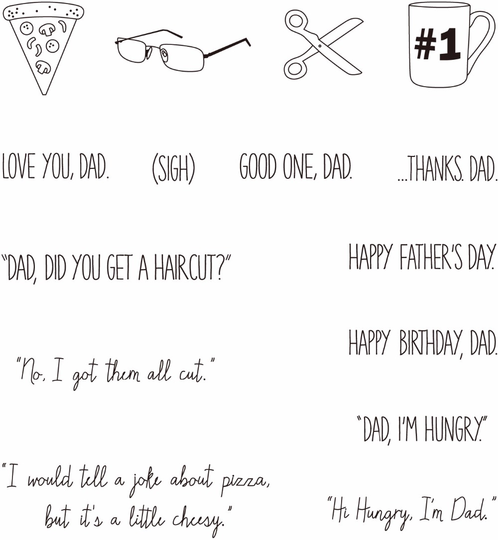 Happy Fathers Day  Clear Stamps Scrapbook Paper Craft Clear stamp scrapbooking     YZ1005