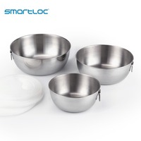 smartloc 3 pcs Stainless Steel Kitchen Food Storage Lunch Box Fresh Vegetable Containers Fruit Bowl Basket Sealed Refrigerator
