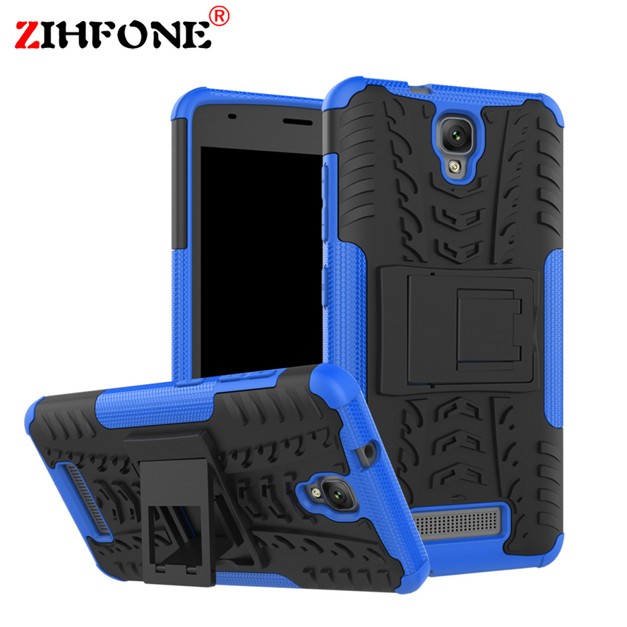 For ZTE Blade L5/L5 Plus Cover with Stand TPU & PC Dual Hard Silicone Armor ShockProof Anti-Skid Case For ZTE Blade L5 Plus 5.0