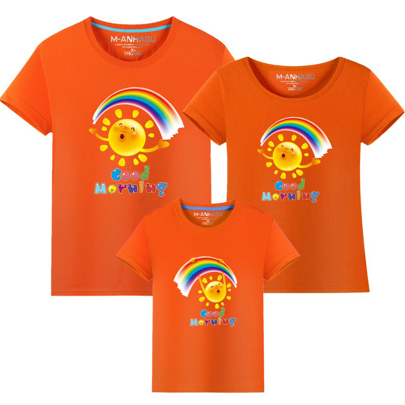 Summer Family Matching Outfits T shirt Mom Dad Son Daughter Rainbow T Shirts Family Mother Father Kids Matching outfits Tees (12)
