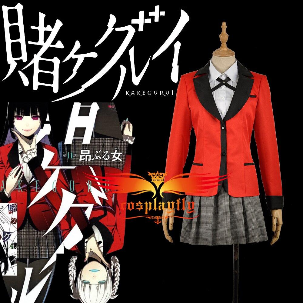 Comics Kakegurui: Compulsive Gambler Jabami Yumeko Adult Outfit Jacket Shirt Skirt Clothing School Uniform Cosplay Costume W1178