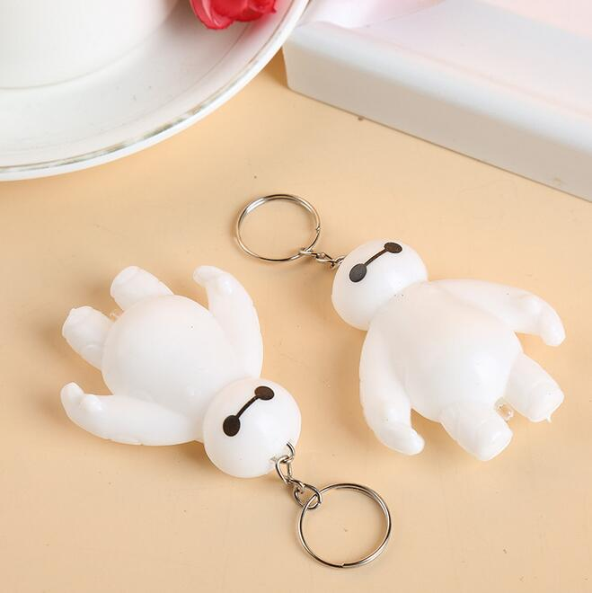 1pcs Big Hero 6 Baymax Toy Model Dolls Keychain Lovely Cute Action Figure World Action-205
