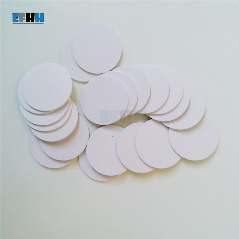 125KHZ T5577/T5567/T5557 Diameter 25mm Rewritable RFID Coin Card In Access Control Card