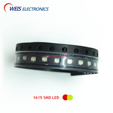 100PCS 1615 SMD LED bicolor ( red + yellow green ) 0603 double color LEDs 1.6*1.5mm 1.8-2.0v 20mA Free shipping