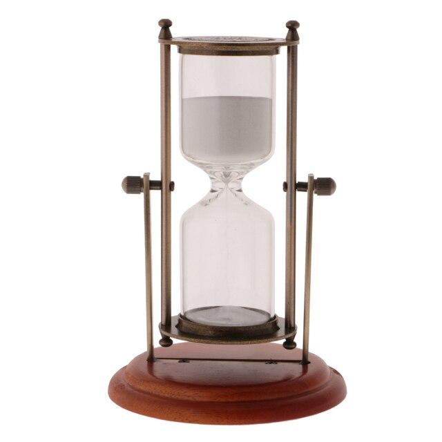 Nueva venta caliente 15 minutos madera marco giratorio sandglass ...