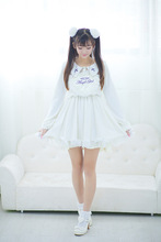 Japanese soft sister summer and autumn sweet cute angel lolita white dress embroidery preppy style summer dress