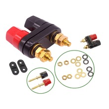 20 pcs Banana plugs Couple Terminals Red Black Connector Amplifier Terminal Binding Post Banana Speaker Plug Jack
