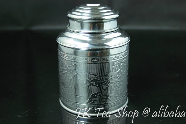150g Tea Capacity(Super airtight, thick tin material) Tin Canister Airtight Storage Jars Botes Stainless Steel Tea pot