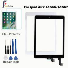 A1566 A1567 Touch Screen Digitizer Glass lens Sensor 9.7'' inch For Ipad air2 Ipad air 2 touch screen glass digitizer front Glas 10 1 10 2 inch 4 wire 235mm 144mm resistive touch screen digitizer for industrial equipment