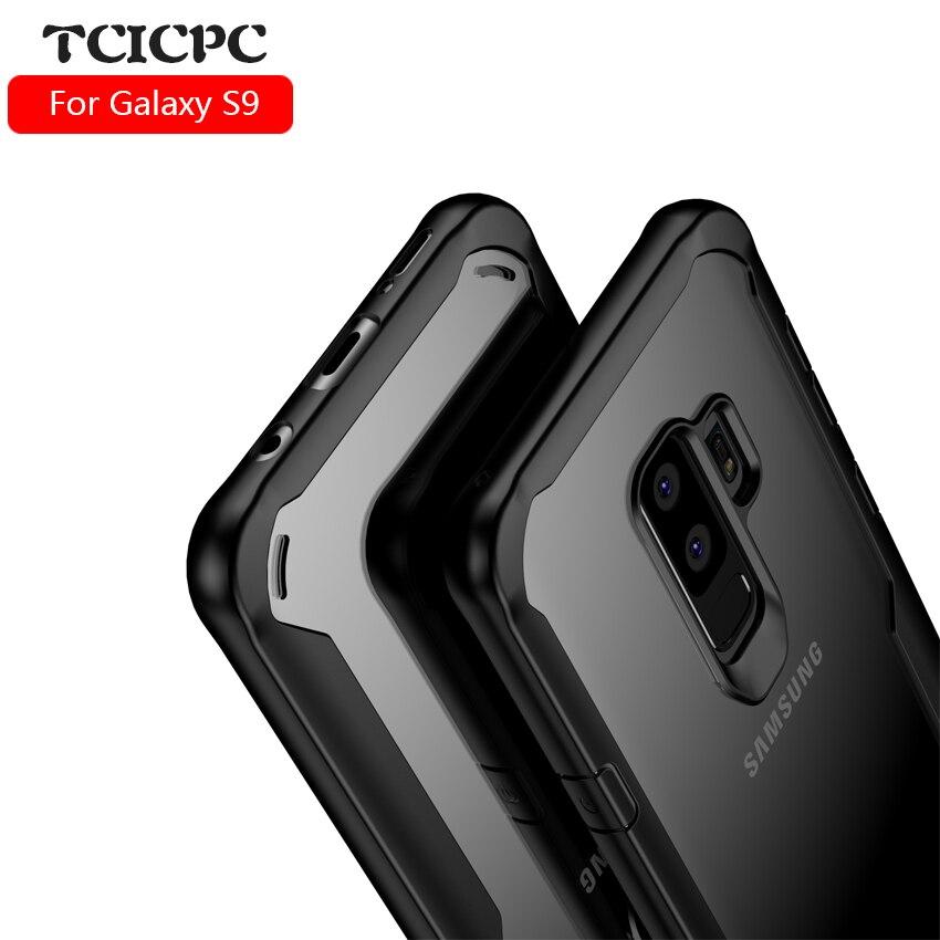 Galleria fotografica TCICPC For Samsung Galaxy S9 case Samsung S9 case S9 plus cover Acrylic transparent back cover case for Galaxy S9 S 9 plus