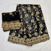 Bazin lace fabric Gold embroidery 2019 New arrival african bazin riche for big occaison 7 yards KY071510