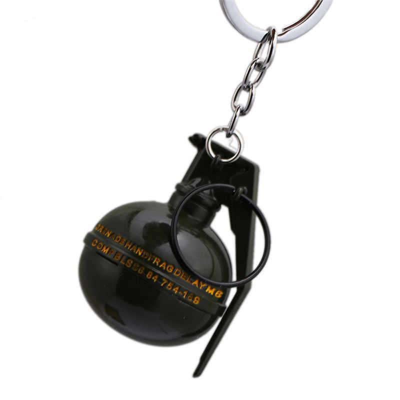 Neue Playerunknown der Schlachtfelder PUBG Keychain Kleine Anhänger Männer Schmuck Metall Schlüssel Kette Ring Halter llaveros Souvenir Chaveiro
