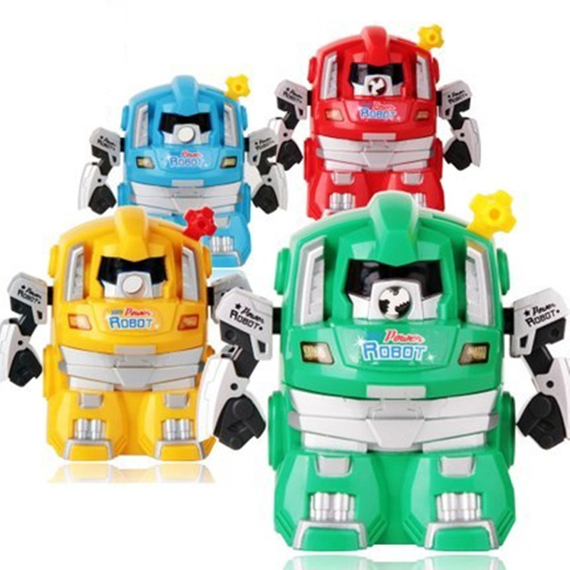 Mini Robot pencil sharpener Children safe Mechanical sharpeners Kids Gift Stationary Office accessoris School supplies F770