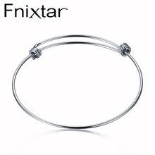 Fnixtar браслет из нержавеющей стали оптом 50 мм 55 мм 60 мм 65 мм 50 шт./лот