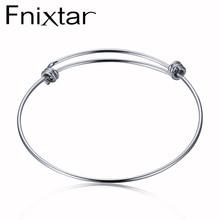 Fnixtar Inoxydable Bracelet En Acier Bracelet Bracelet En Gros 50mm 55mm 60mm 65mm 50 pcs/lot