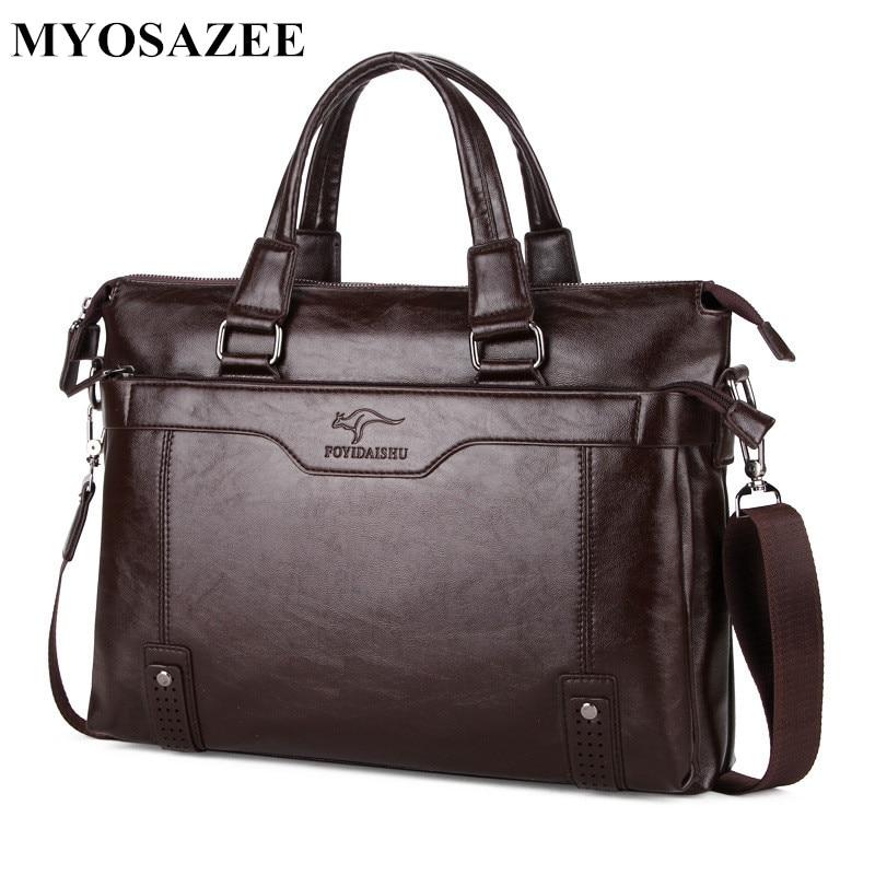 MYOSAZEE แบรนด์แฟชั่นผู้ชายกระเป๋าเอกสารกระเป๋าสะพายชาย PU หนังแล็ปท็อปกระเป๋า Crossbody กระเป๋า Messenger ชาย-ใน กระเป๋าเอกสาร จาก สัมภาระและกระเป๋า บน AliExpress - 11.11_สิบเอ็ด สิบเอ็ดวันคนโสด 2