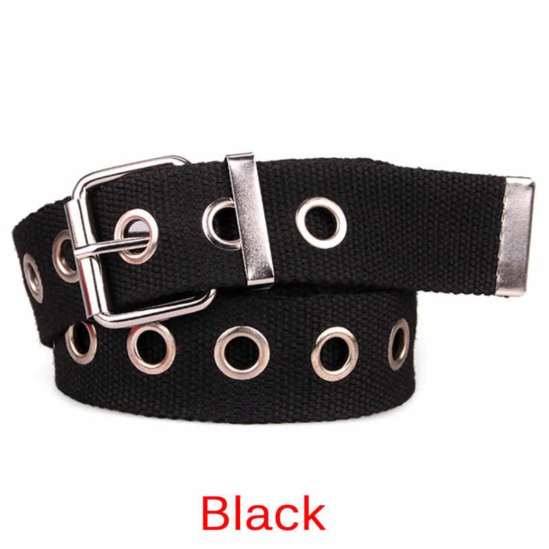 Широкий ремень с пряжкой Для мужчин леди длинный индивидуальный дизайн Горячая кольцо в стиле casual черный металлический пояс для девушек-студенток из парусиновой джинсовой ткани поясные ремни tide