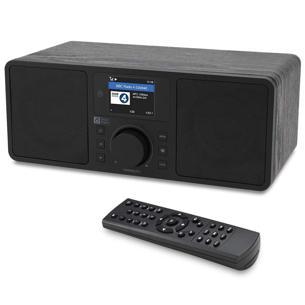 Океан цифровой WR230S WiFi/DAB/FM интернет радио прикроватный будильник радио с Bluetooth приемник и порт Ethernet 2,4 TFT