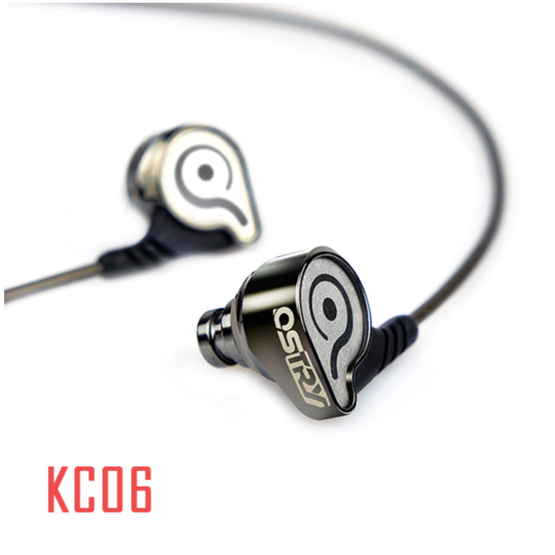 OSTRY KC06 HiFi Professional In-Ear High Performance Earphones 2 Colors ostry kc06 fashion in ear ear hook earphones silver black 3 5mm plug 1 2m cable