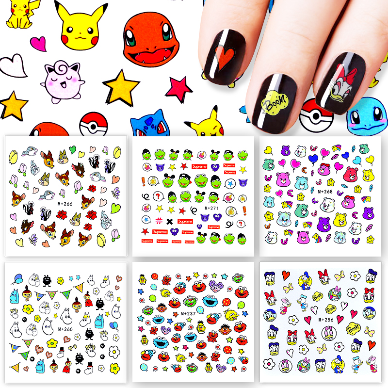 1 Sheet 31 Styles Optional 2017 New Arrival  DIY Nail Sticker Water Transfer Cartoon Design Tips Nail Beauty Manicure Decal sweet manicure decal accessory cartoon nail sticker for children