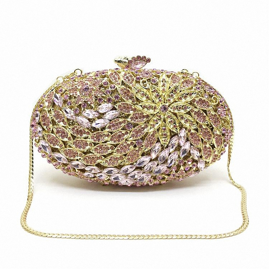 ФОТО ForUForM jeweled clutch Wedding Bridal purse Luxury Diamond Evening Bags Lady Day clutch Women Crystal Party Bags LI-1568