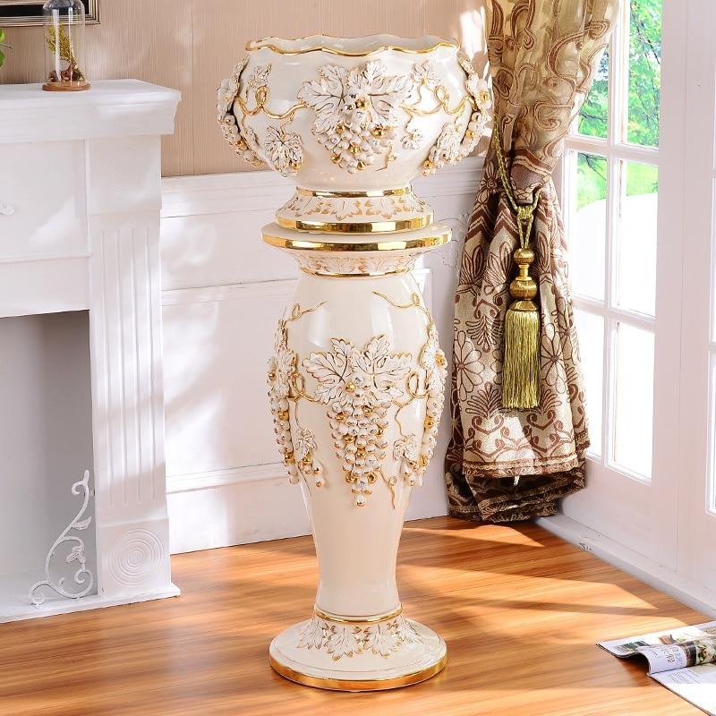 Rome european ceramic pillars retro luxury living room - Aubergine accessories for living room ...