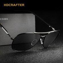 HDCRAFTER Classical Aviator Glasses Brand Designer Men Driving Sunglasses Polarized Frame Retro Women Eyewear With Case