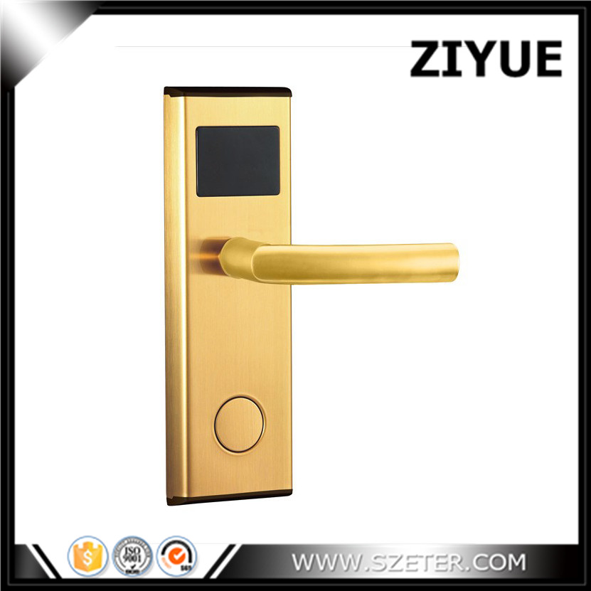 Digital electric Promotion intelligent Electronic RFID hotel key card door lock for hotel inn ET100RF high class digital electronic rfid card hotel door handle locks with master card key options et820rf