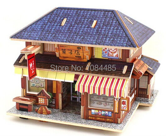 japanese traditional house model building kits diy 3d wooden puzzles rh aliexpress com japanese new model house 3d model japanese house