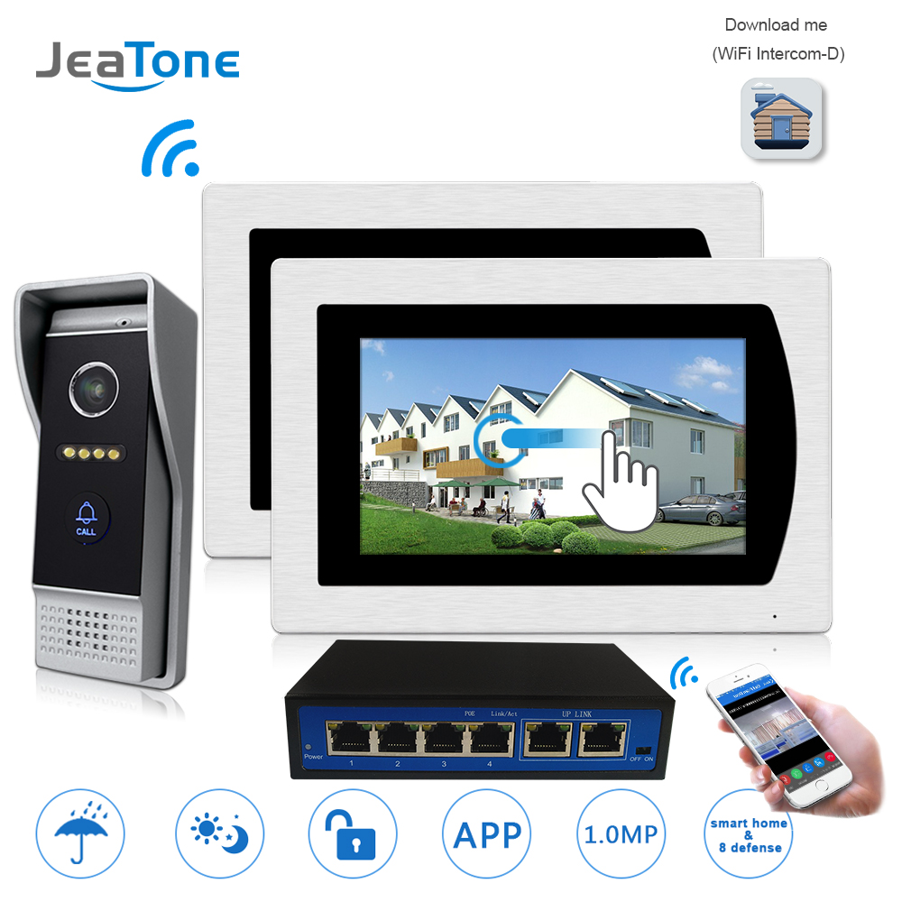 7'' Touch Screen WIFI IP Video Door Phone Video Intercom Doorbell Apartment Access Control System Motion Detection Android/iOS 7 video door phone intercom doorbell intercom with extra outdoor camera pir 32g card access control system motion detection