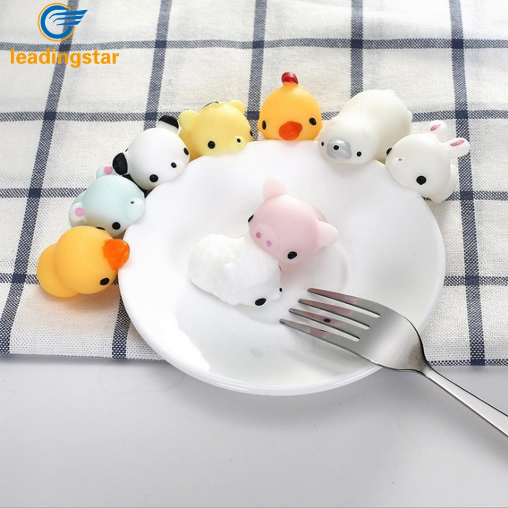 LeadingStar 1 Piece Cute Cartoon Little Animals Decompression Pinching Toys Office Furniture Reducing Pressure Toys zk25