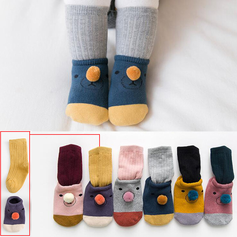 2018 New Autumn And Winter Alpaca Baby Toddler Socks Cartoon Thick Warm Socks