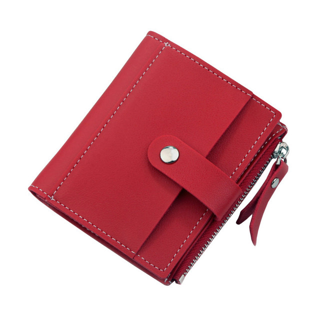 Fashion Women Wallets Short Multi-card Holder Purse PU Leather Zipper Top Quality Coin Pocket Money Bag For Girl Wallet New
