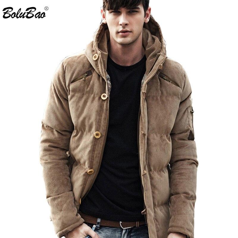 BOLUBAO جديد 2019 الشتاء الرجال القطن الملابس ستر الأزياء جودة القطن مبطن الشتاء سميكة الدافئة لينة العلامة التجارية مقنعين الذكور ستر-في سترات فرائية مقلنسة من ملابس الرجال على  مجموعة 1