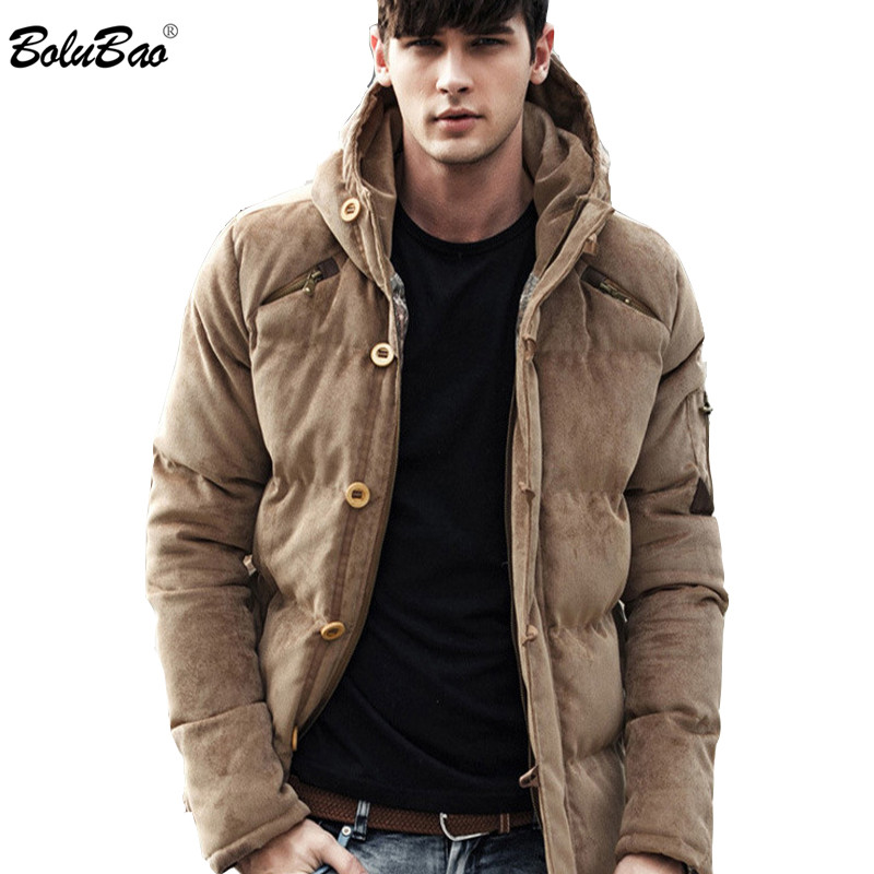 BOLUBAO New 2019 Winter Men Cotton Clothing   Parkas   Fashion Quality Cotton Padded Winter Thick Warm Soft Brand Hooded Male   Parkas