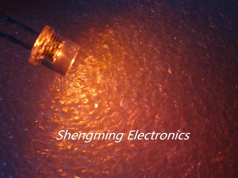 100 штук, толщина 5 мм, с плоским верхом желтый Широкий формат светильник светодиодный ультра яркий лампы светодиод F5mm