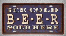 1 pc Ice Cold Beer Sold Here Tin Plate Sign plate wall man cave Decoration Art Dropshipping Poster metal